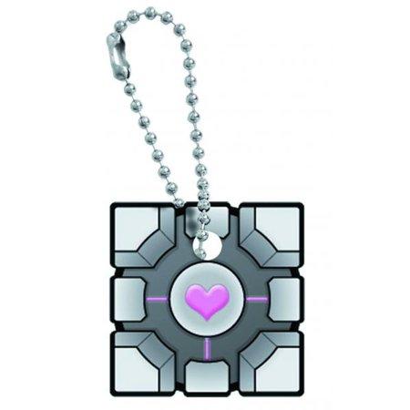 Portal Original Companion Cube Key Cap Key Chain - Portal Companion Cube