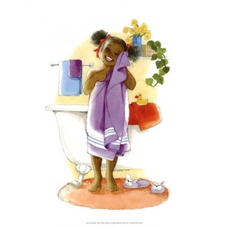 Goggle Timer - Bath Time Giggles (Girl) Poster Print by Sylvia Walker (8 x 10)