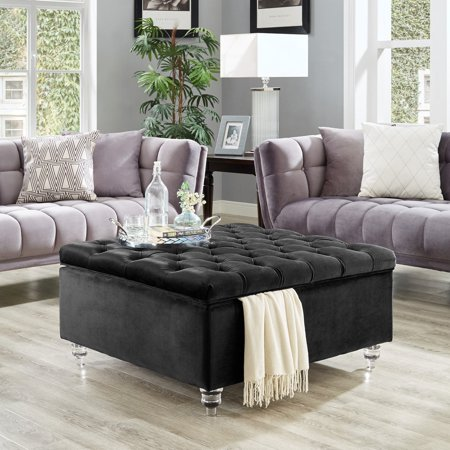 Marvelous Inspired Home Robert Square Coffee Table Storage Ottoman Dailytribune Chair Design For Home Dailytribuneorg