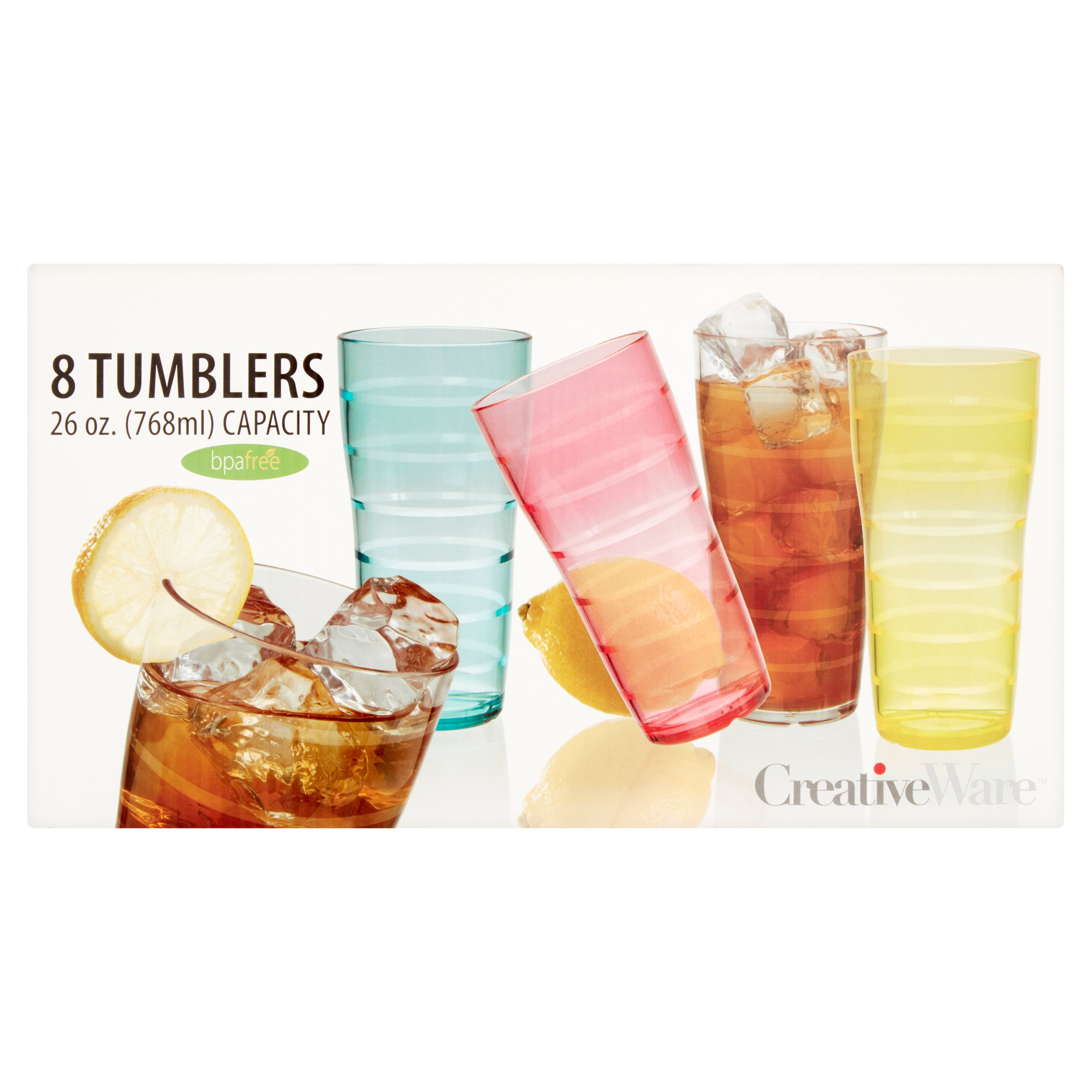 Creative Ware 26 oz. Capacity Tumblers, 8 count