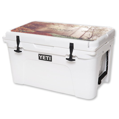 MightySkins Protective Vinyl Skin Decal for YETI Tundra 45 qt Cooler Lid wrap cover sticker skins Happens For A Reason