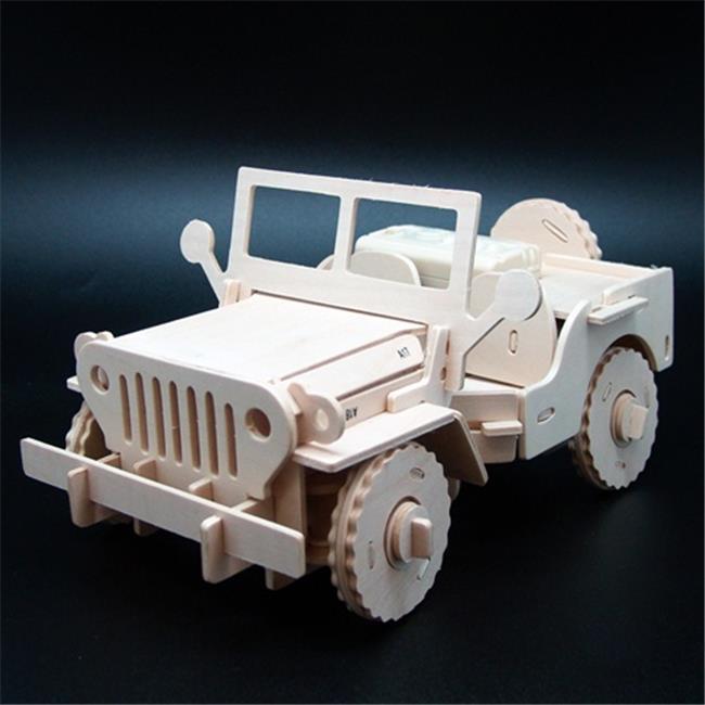 Robotime V400 Military Remote Control Jeep Wooden 3D Puzzle Robotime