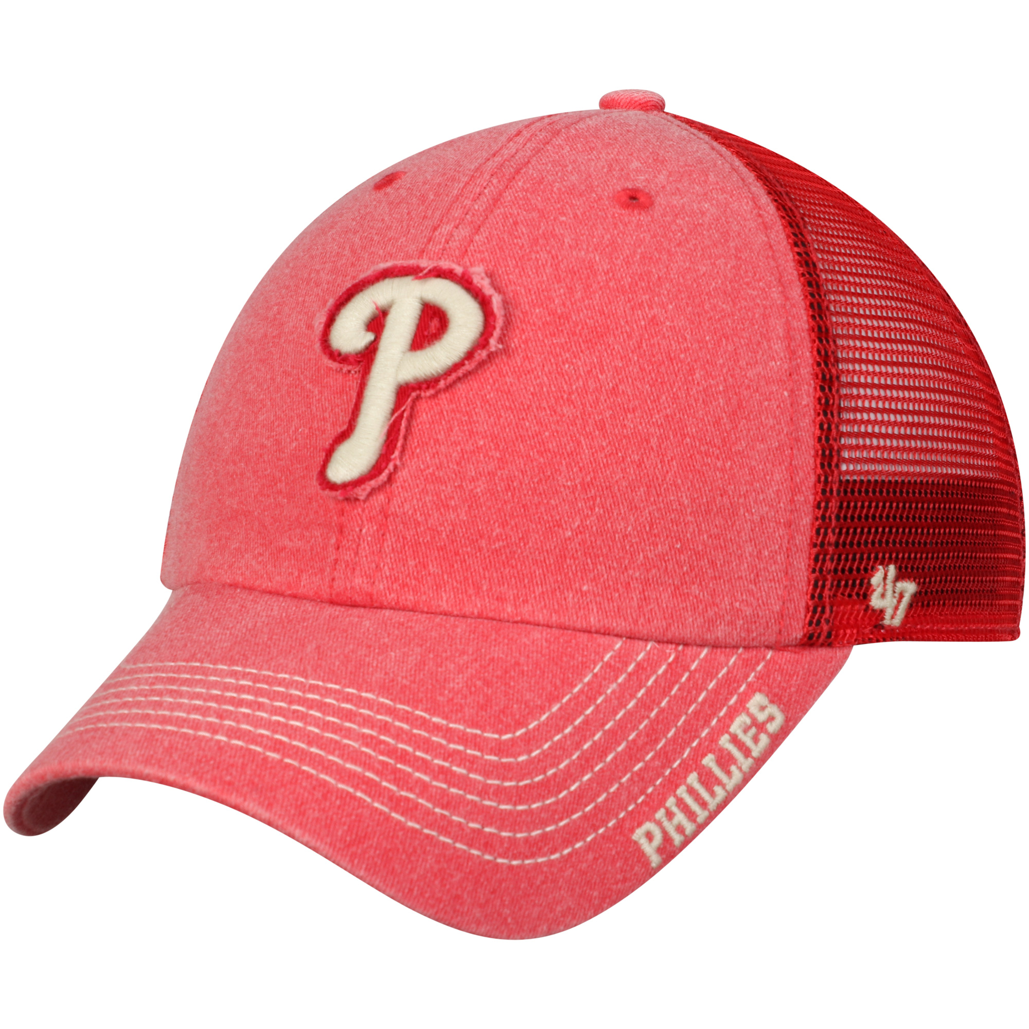new product 57b9b 8c5ef ... canada philadelphia phillies 47 burnstead clean up trucker adjustable  hat red osfa 2dd3d 3975c