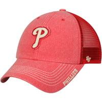 ec36648bbb4 Product Image Philadelphia Phillies  47 Burnstead Clean Up Trucker Adjustable  Hat - Red - OSFA
