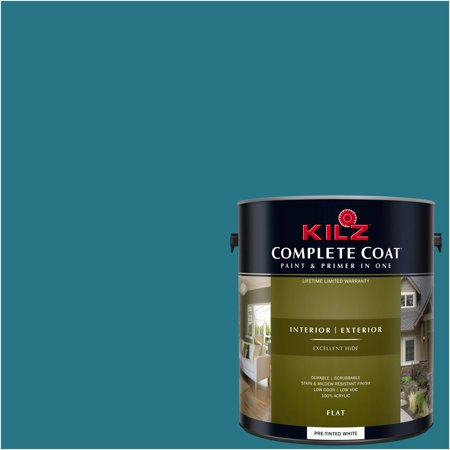 KILZ COMPLETE COAT Interior/Exterior Paint & Primer in One #RE100-01 Basic Teal