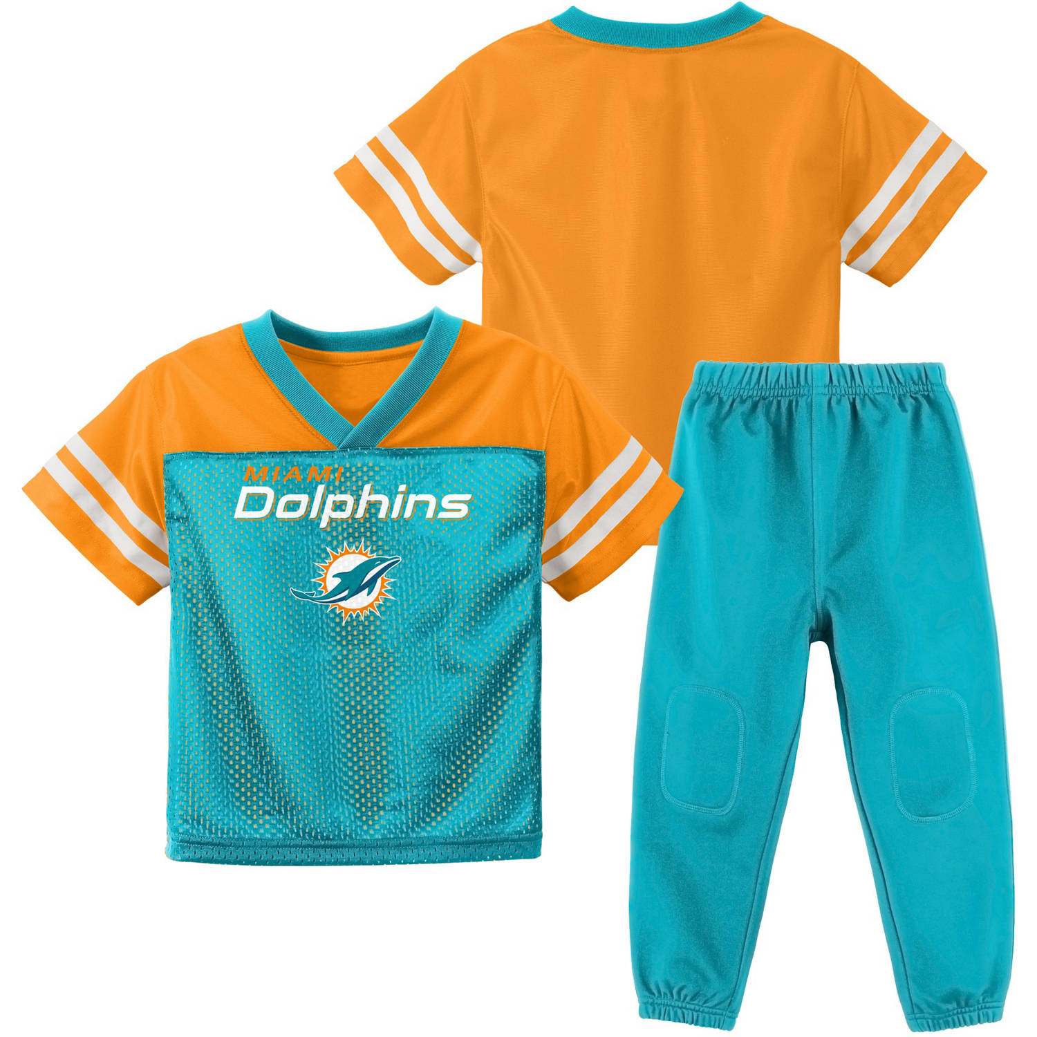 NFL Miami Dolphins Toddler Short Sleeve Top and Pant Set