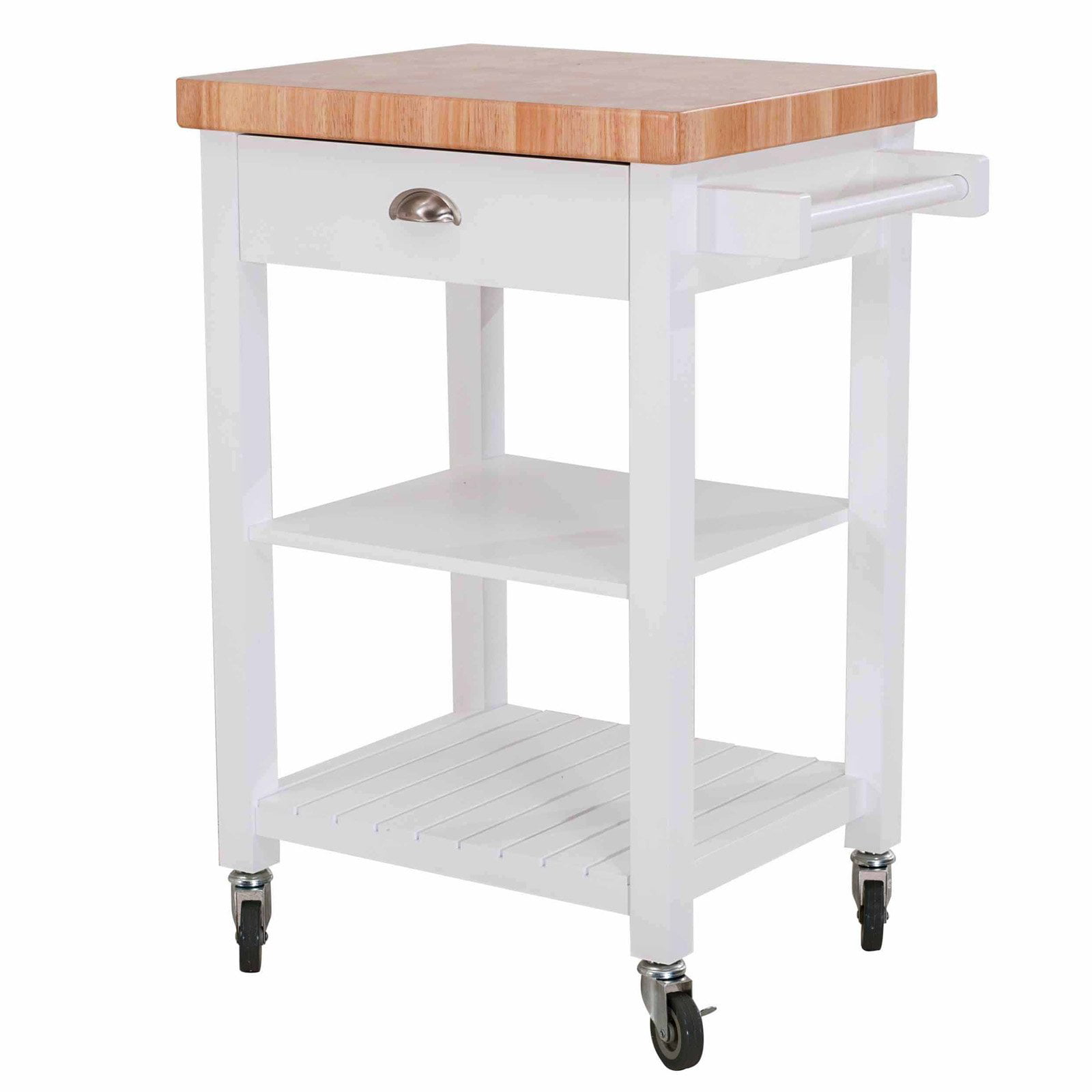 Kitchen Cart With Drawers: SJ Collection Bedford Kitchen Cart On Wheels, Rolling