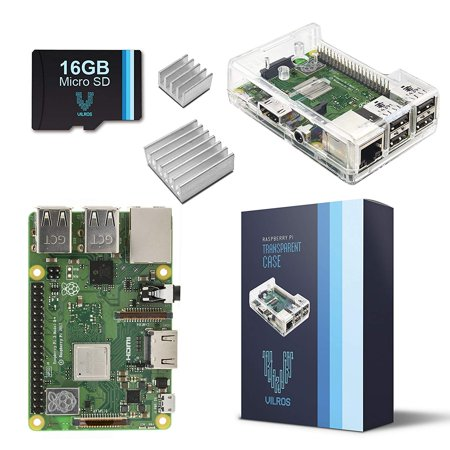 Vilros Raspberry Pi 3 Model B+ (B Plus) Barebones Kit-With Preloaded SD Card-Clear Transparent Case and Set of 2 Heatsinks [LATEST MODEL