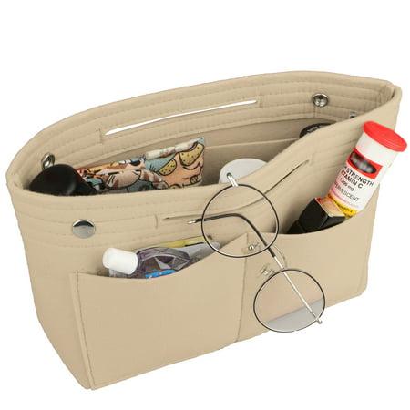 EEEKit Travel Makeup Bag Multifunction Cosmetic Bag Women Portable Handbag Toiletry  Case Pouch Multiple Pockets Organizer Felt Fabric ()