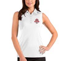 Toronto FC Antigua Women's Sleeveless Tribute Polo - White