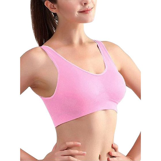 f61a4c4cf1 JLONG Plus Size Women Gym Yoga Sports Bras Padded Underwear Cropped Tops -  Walmart.com