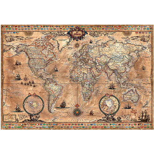 Educa Antique World Map Jigsaw Puzzle 1000 Pieces Walmartcom