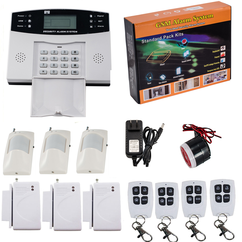 iMeshbean Wireless LCD GSM SMS Home Security Burglar House Fire Alarm System Auto Dialer