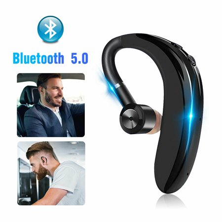 EEEKit Wireless Bluetooth Headset Noise Cancelling Stereo Bass Earpiece Bluetooth 5.0 Driving Business Earphone with Built-in Mic for iPhone, Samsung, Android Phone