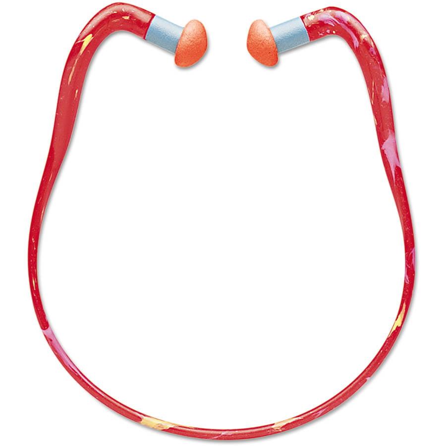 Howard Leight by Honeywell - QB2HYG Banded Multi-Use Earplugs, 25NRR, Orange Band/Orange Plug