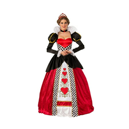 Elite Queen Of Hearts Adult Costume - Queen Of Hearts Makeup For Halloween