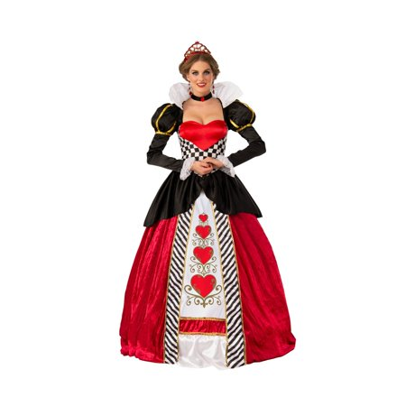 Elite Queen Of Hearts Adult Costume - Plus Size Queen Of Hearts Halloween Costume