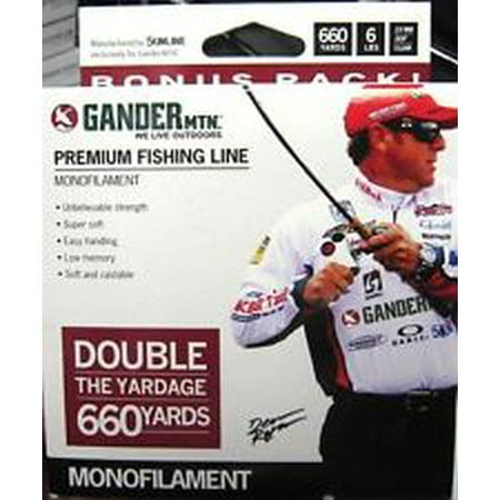 Gander Mountian Premium Monofilament Fishing Line 660 Yds 6Lb