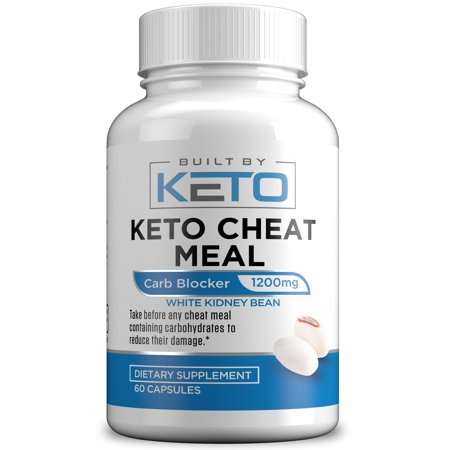 Carb Blocker - 1200mg White Kidney Bean Extract - Keto Cheat Meal - Best Carb, Starch, Fat Blocker for The Ketogenic Diet - Eat Carbs While on Keto - 60 Capsules - Built By