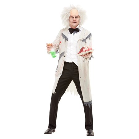 Mad Men Halloween Outfits (White and Black Mad Scientist Men Adult Halloween Costume -)