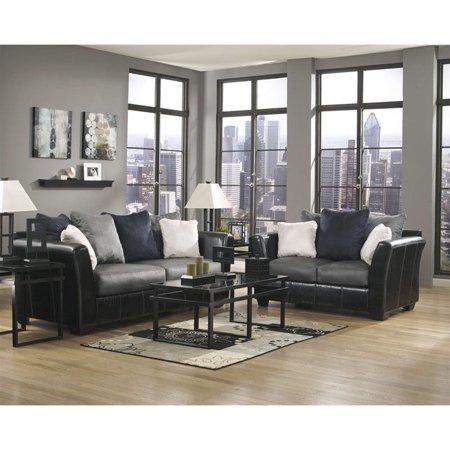 Signature Design by Ashley Furniture Masoli 2 Piece Sofa Set in Cobblestone