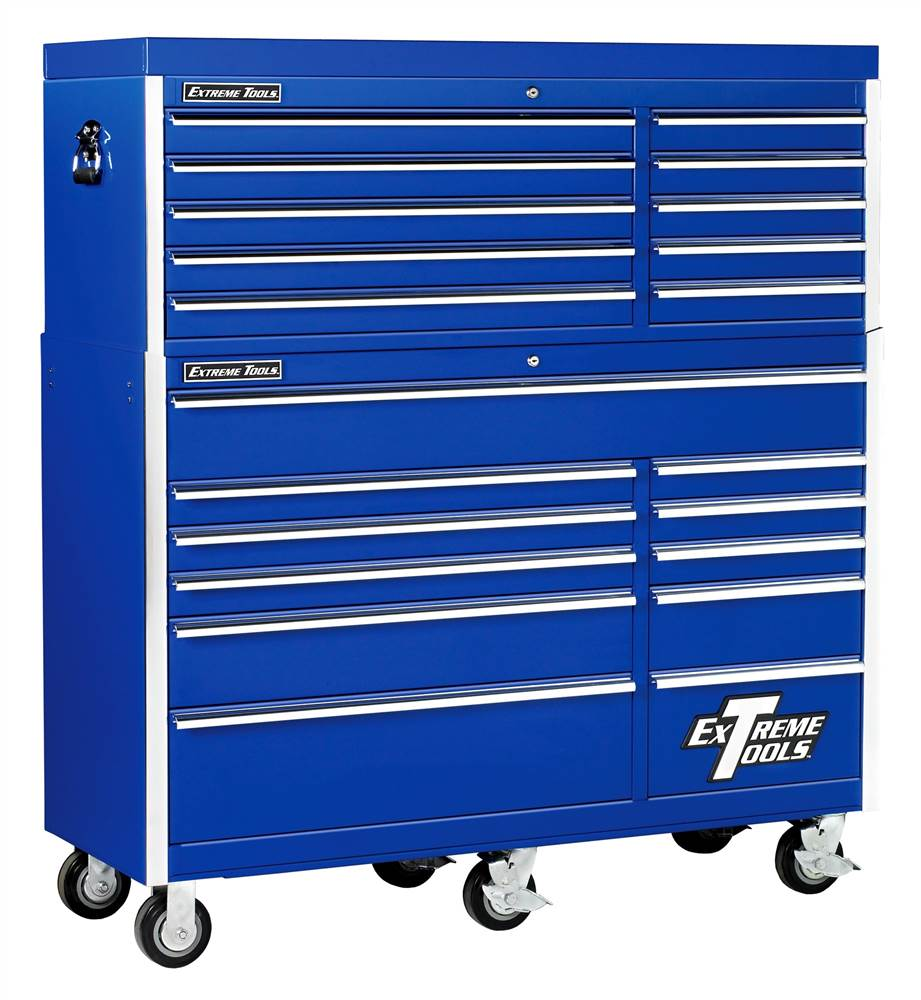 Wheeled Tool Chest Cabinet w 11 Drawers & Blue Finish