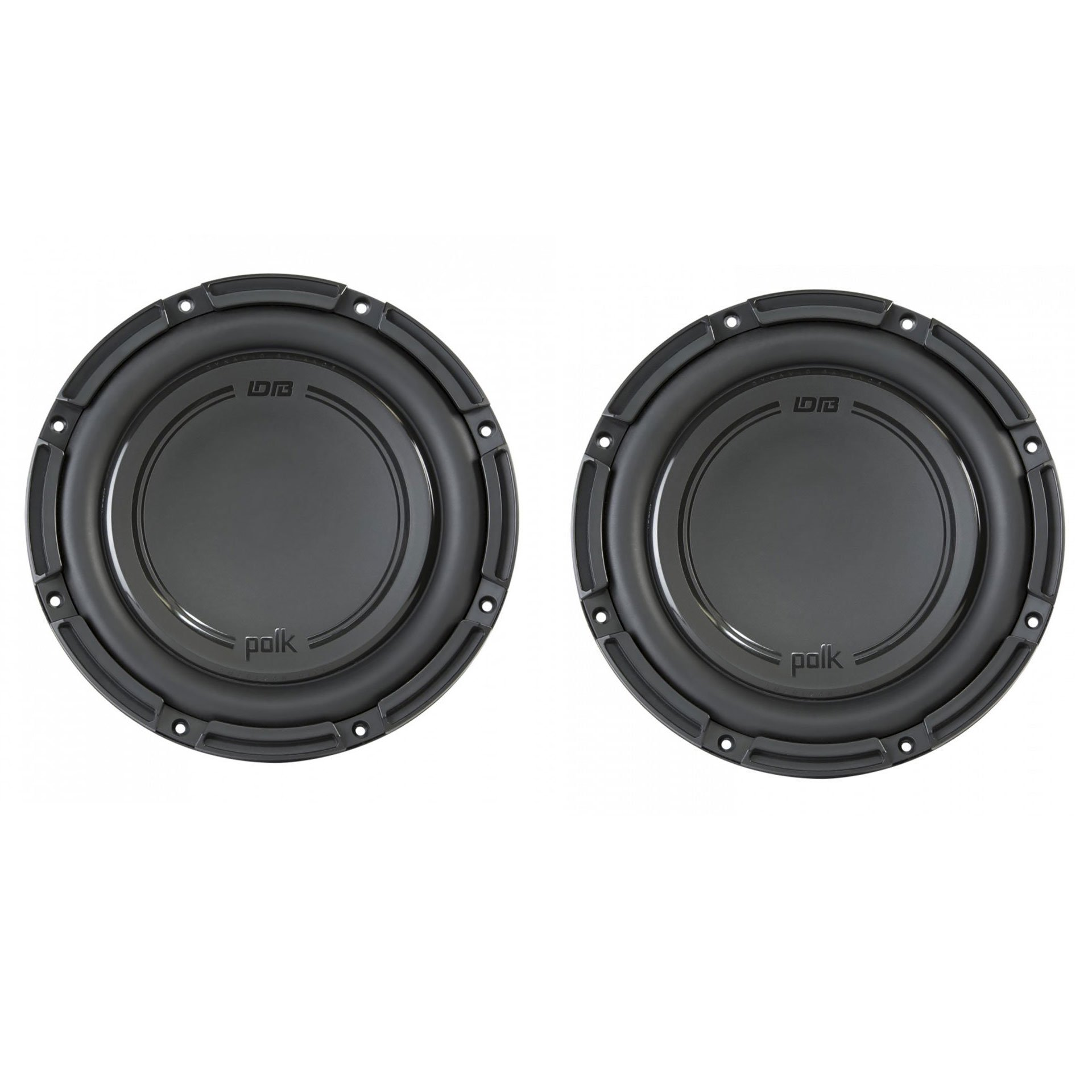 Polk Audio DB+ 10 Inch 1050 Watt 4 Ohm SVC Marine & Car Subwoofer (2 Pack)