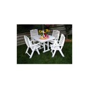 Nautical Square Dinette Table w 4 High Back Armchairs