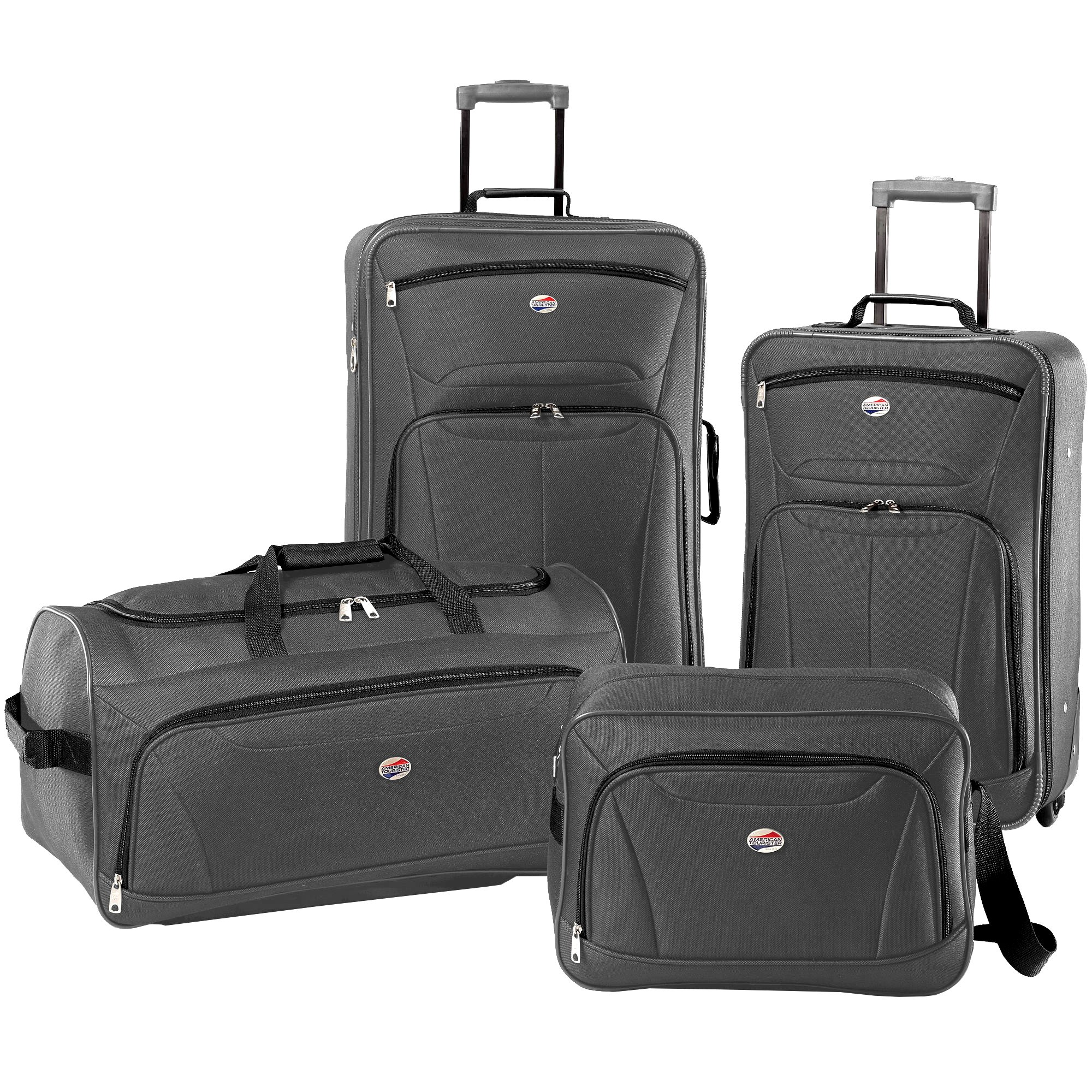 American Tourister Luggage Fieldbrook II 4 Piece Set (Charcoal)