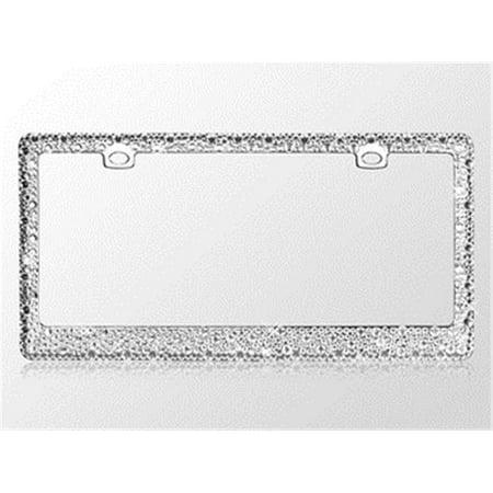 Valor LPF2EC029WIT Jeweled Crystal Rhinestone License Plate Frame ...