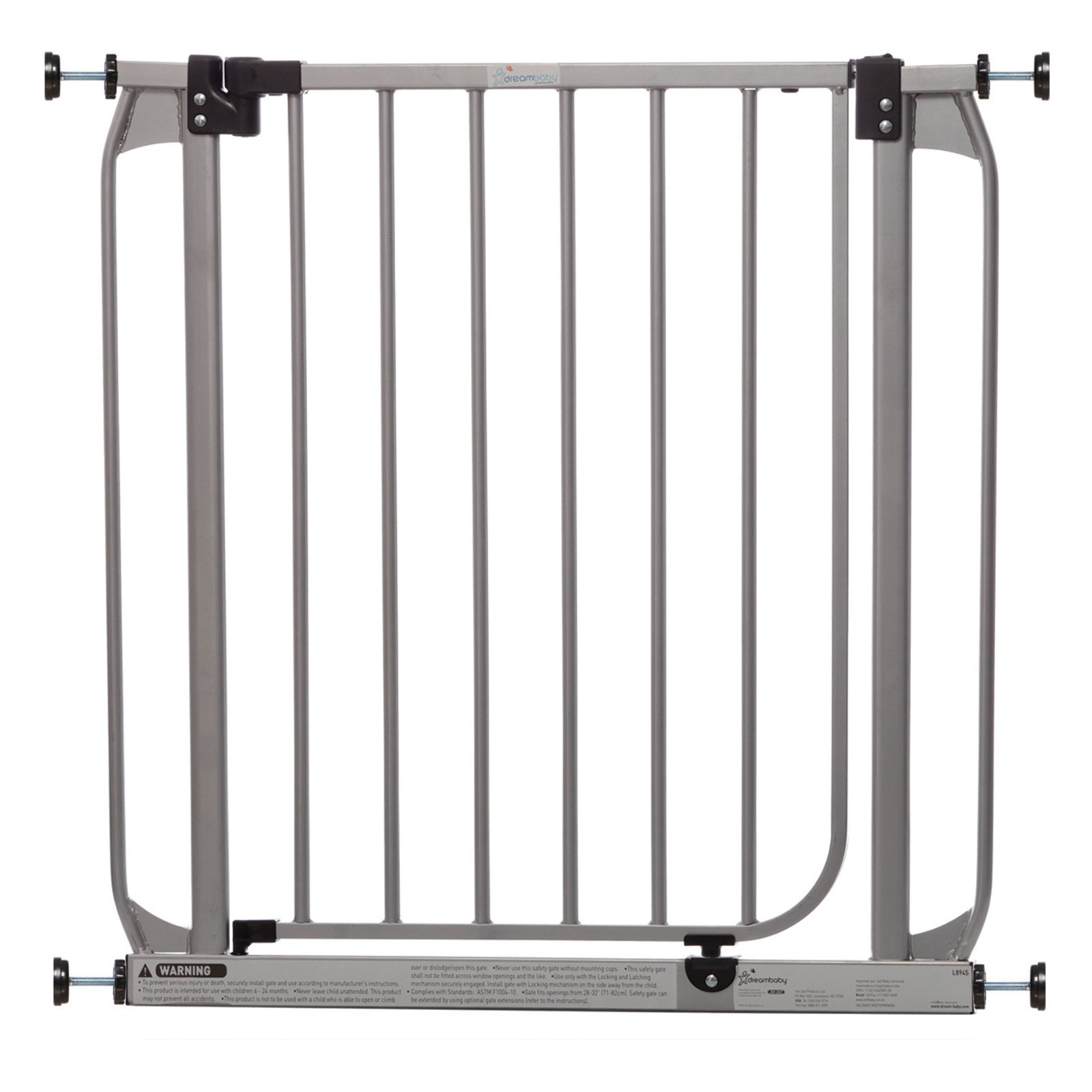"Dreambaby Dawson Auto-Close, Stay-Open Metal 28""-32"" Baby Gate"