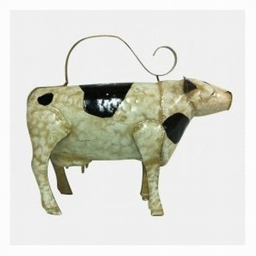 NorthCrest Metal Vintage Cow Watering Can Garden Plant Waterer by
