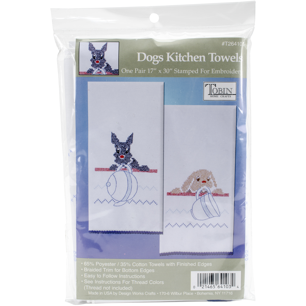 Tobin T212935 Stamped Kitchen Towel for Embroidery Bird
