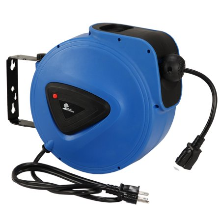 Palm Springs Indoor Outdoor 50ft 3 G Extension Power Cord And Wall Mounted Reel