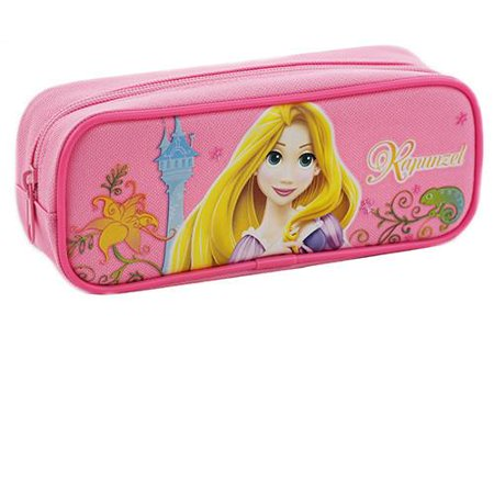 Princess Rapunzel Character Single Zipper Light Pink Pencil Case