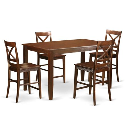 Dudley Counter Height Pub Set - Small Kitchen Table & 4 Chairs