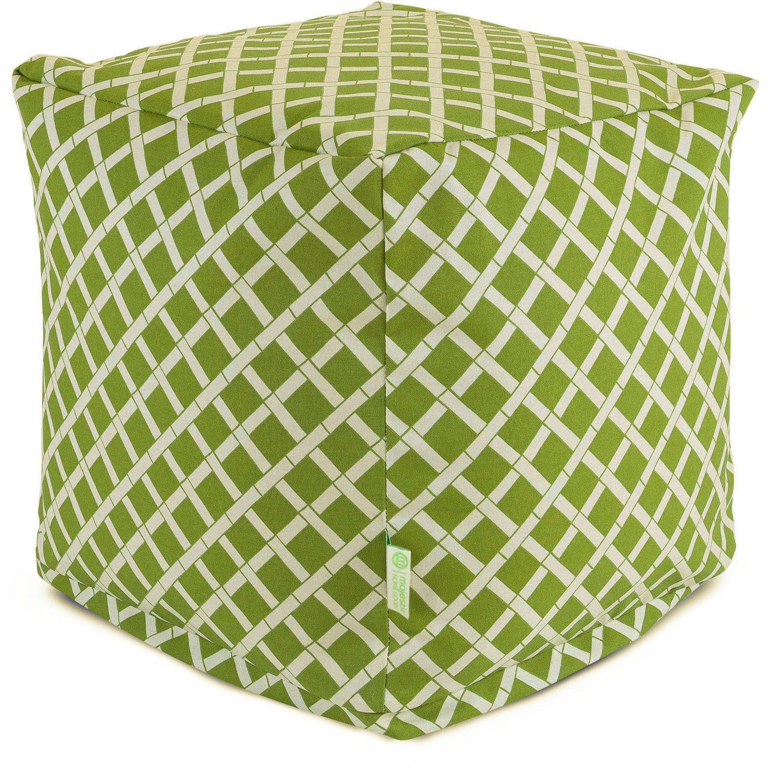 Majestic Home Goods Bamboo Bean Bag Cube, Indoor/Outdoor