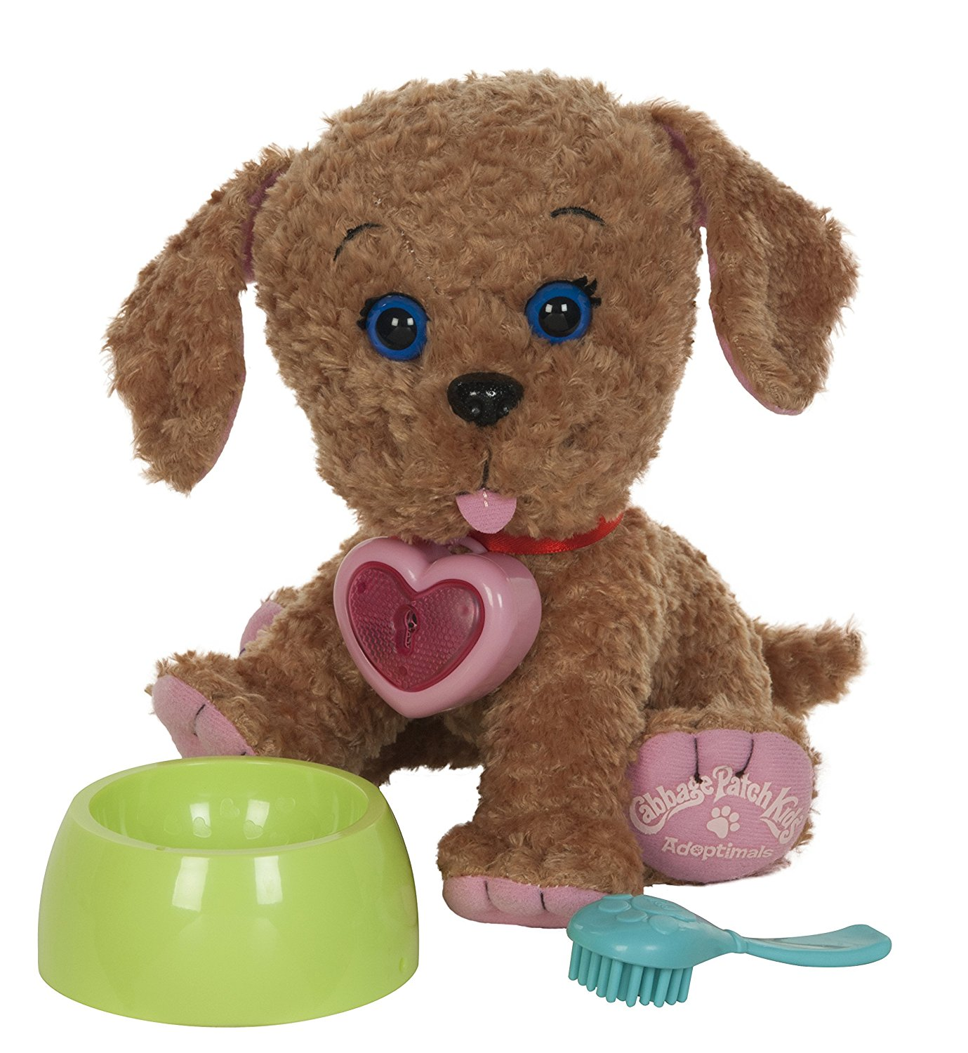 Adoptimals LabradoodleBowl and brush included to care for your Labradoodle! By Cabbage Patch Kids by