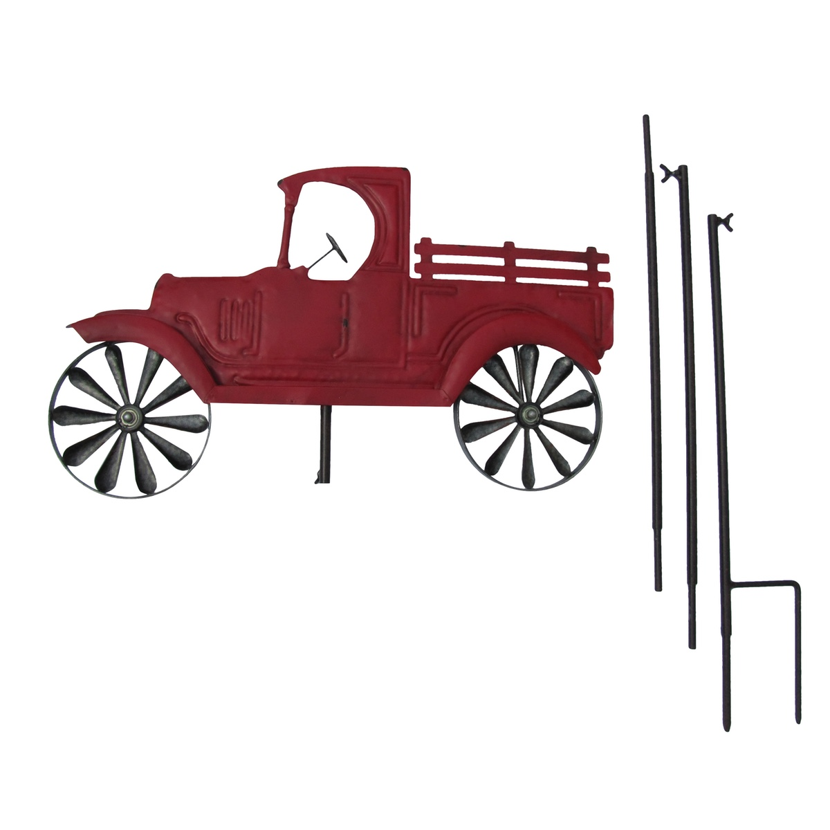 Farm Truck Wind Spinner Garden Stake/Lawn Ornament/Yard Art Outdoor Home Decor