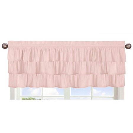 Solid Color Blush Pink Shabby Chic Ruffle Window Treatment Valance for Harper Collection by, Dimensions: 54 in. x 15 in. By Sweet Jojo Designs