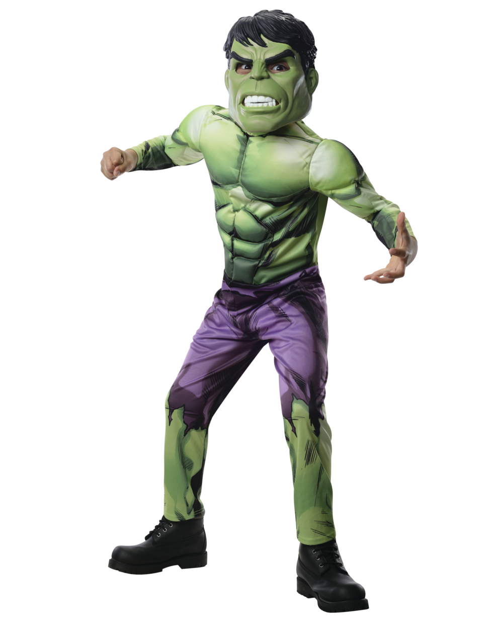avengers assemble deluxe hulk boys child halloween costume walmartcom