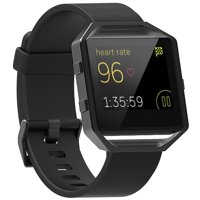 Replacement Silicone Strap Wrist Band + Stainless Frame for Fitbit Blaze Watch by EEEkit