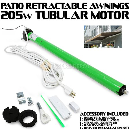 Patio AC Tubular Motor For Retractable Awning With Built In Reciever