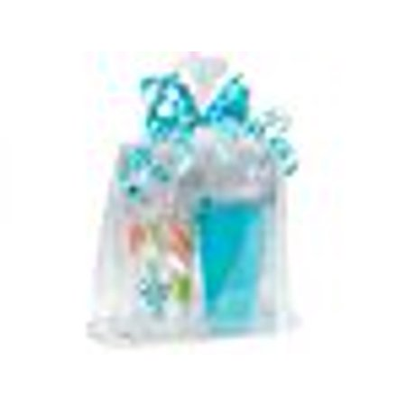 A1BakerySupplies Clear Cellophane Bags Basket Bags Cello Gift Bags Gusset style bag (12 in. X 4 in X 20 In.) 10 Pack