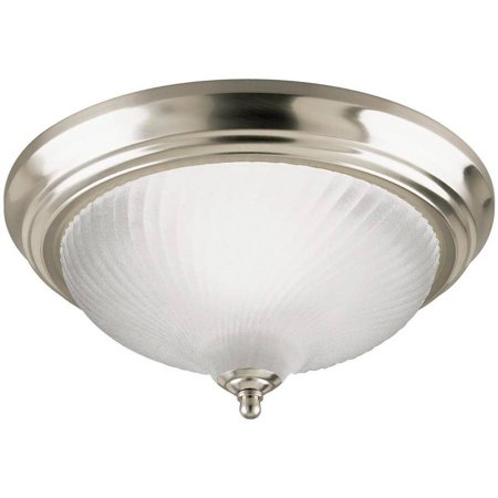 Westinghouse 6430400 1 Light Brushed Nickel Flush Mount Ceiling (Brushed Nickel Flush Ceiling Light)