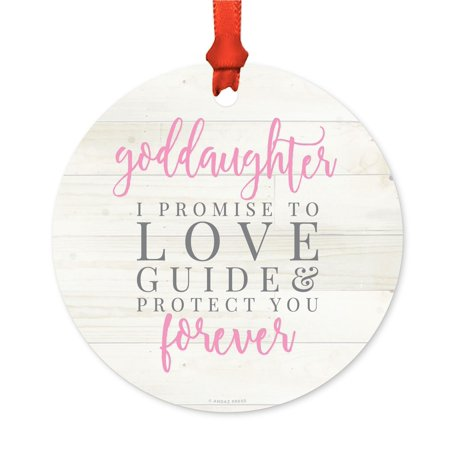 Metal Christmas Ornament, Goddaughter in My Heart Forever, Includes Ribbon and Gift Bag for $<!---->