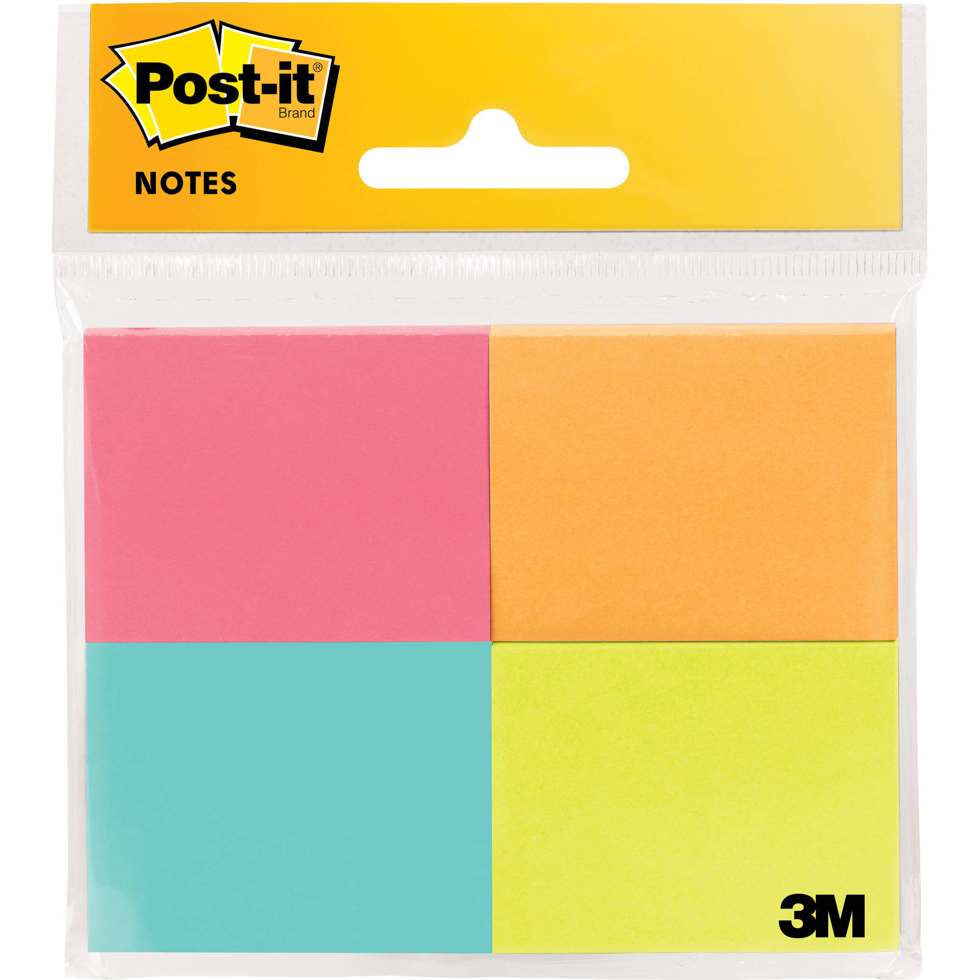 Post-it Original Notes 4 Pack, 1.5in. x 2in., Cape Town Collection