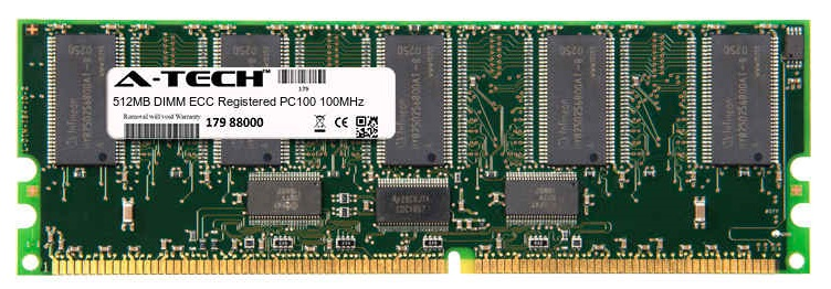 512MB Module PC100 100MHz ECC Registered SD DIMM Server 168-pin Memory Ram