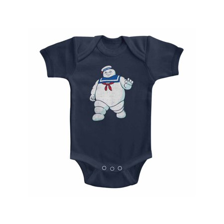 Baby Stay Puft (The Real Ghostbusters TV Series Mr Stay Puft Solid Infant Baby Romper)