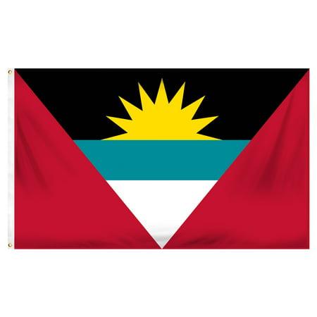 Antigua and Barbuda 3ft x 5ft Printed Polyester (Antigua Flag)